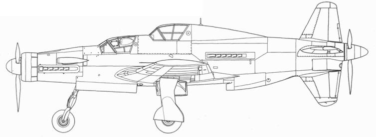 Учебный Do 335В-5 с двигателями Jumo 213. Проект, реконструкция.