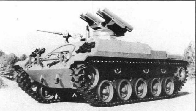 Прототип испанского ПТРК на базе танка М41, вооруженного ПТУР «Хот»