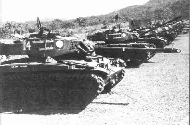 Танки М41 34-го танкового полка армии США во время маневров в Зоне Панамского канала. 1960 год