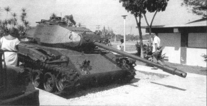 Трофейный танк М41 ныне демонстрируется на Кубе в музее на Плайя-Хирон