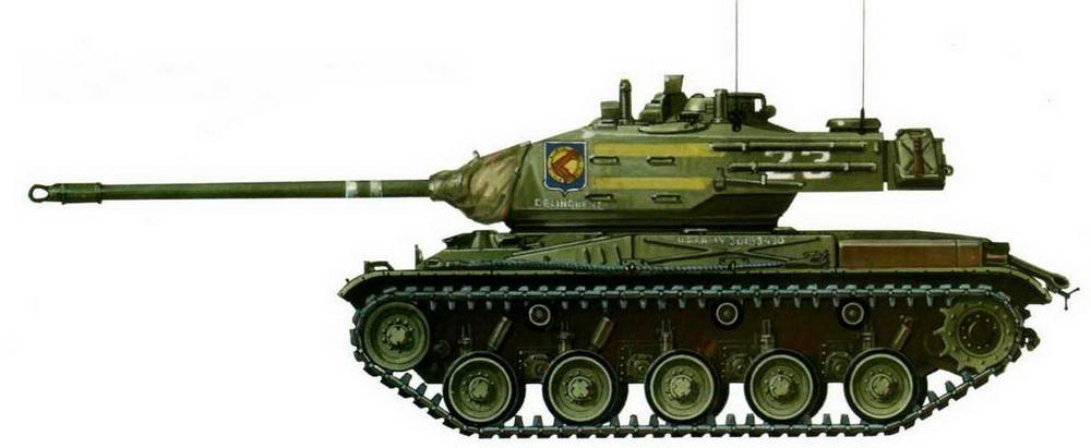 Легкий танк М41. 34-й <a href='https://arsenal-info.ru/b/book/1627328415/40' target='_self'>танковый полк</a> армии США. Зона Панамского канала, 1962 г.