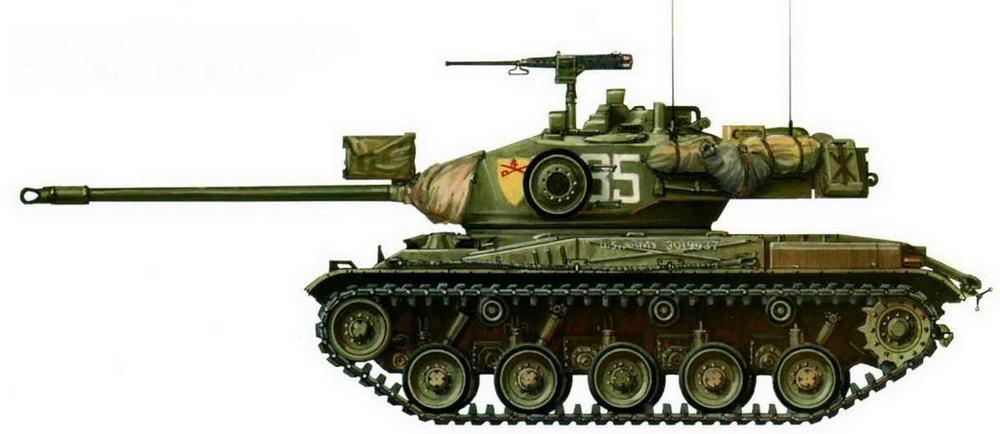 Легкий танк М41. 4-й кавалерийский полк 25-й американской пехотной дивизии. Маневры SEATO, Тайланд, 1962 г.