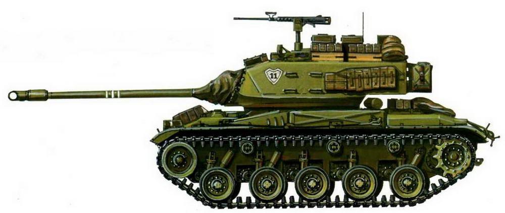 Легкий танк М41АЗ. 11-й бронекавалерийский полк 1-й танковой бригады армии Республики Вьетнам. Апрель 1972 г.