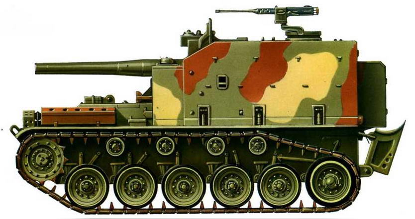 Самоходная гаубица М44. Королевская Иорданская армия, 1975 г.
