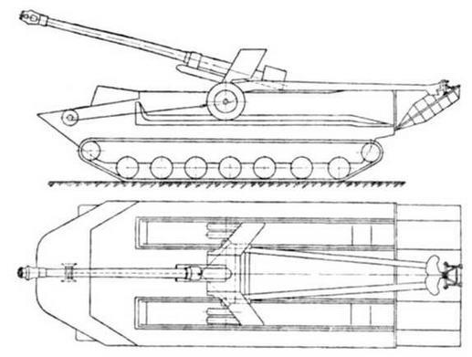Схема погрузки и крепления артиллерийского орудия на транспортере