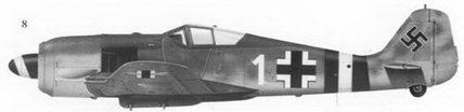 8. Fw-190A-6 «белая I» командира Sturmstaffel -1 майора Ганса-Георга фон Корпатцки, Дотмунд, январь 1944г.