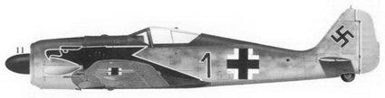 11.Fw-190A-4«черная 1» (Wk-Nr 7134) командира 2./JG-2 обер-лейтенанта Хорста Ханнига, Триквилль, май 1943г.