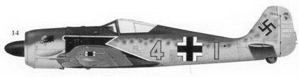 14.Fw-190A-4 «желтая 4» Wk-Nr 746) командира 9./JG-2 гауптмана Зигфрида Шнелля, Ваннис, февраль 1943г.