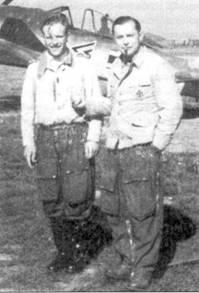 Гауптмана Йозефа «Пипса» Прилпера (на снимке справа) можно считать типичным гитлеровским асом Западного фронта. Приллер сфотографировался на память со своим ведомым фельдфебелем Вальтером Грюнлигером, сентябрь 1942г. Тогда Приллер командовал 1II./JG-26.
