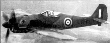Истребитель Фабера в окраске британских ВВС, на самолет был нанесен регистрационный код RAF «МР499» (на снимке плохо различим). Самолет имеет камуфляж RAF, однако кресты закрашены отдельно. Обратите внимание — петух на капоте остался! Может быть фамилия командира авиабазы Пембри была Coekerill? Пилоты RAF выполнили на этом фоккке-вульфе с 3 июля 1942г. по 29 января 1943г. 29 полетов, налетав 12ч 15мин. Машину разбили 18 сентября 1943г., однако даже после этого фокке-вульф еще послужил британцам: отдельные элементы конструкции испытывали на прочность вплоть до разрушения.