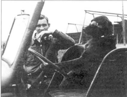Обер-лейтенант, позже майор, Карл Боррис из 26-й эскадры сыграл важную роль в истории доводки истребителя Fw-190. Сиденье водителя занял талисман 26-й эскадры рыжий ирландский сеттер Франц.