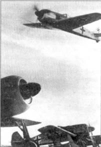 Рехлин, истребители Fw-190A-0, скорее всего — фотомонтаж. Обратите внимание — все двигатели работают … и не один не горит!