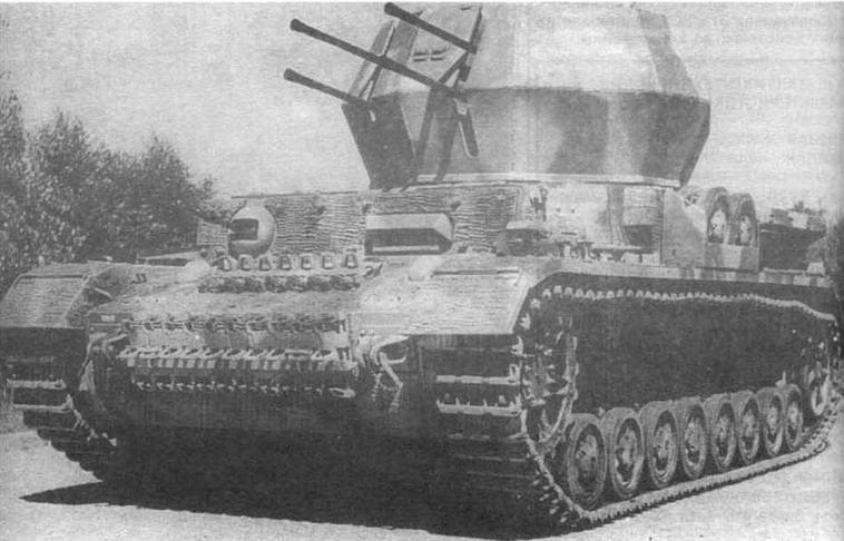 Зенитная самоходная установка Wirbelwind. 1944 год