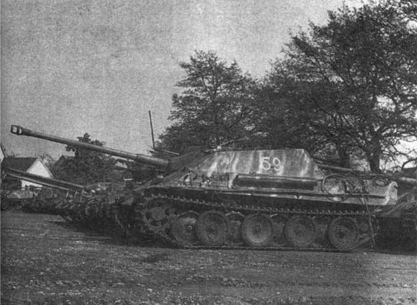 САУ Jagdpanther, захваченная во Франции. Лето 1944 гола