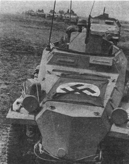 Машина Sd.Kfz.250/3. Восточный фронт, лето 1942 гола