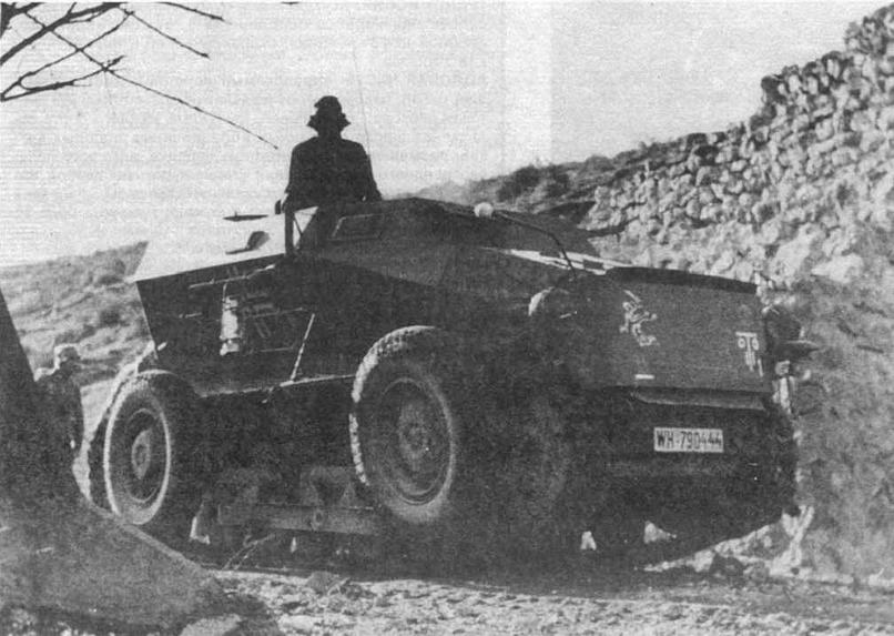 Бронированная машина передовых артиллерийски1 наблюдателей Sd.Kfz.254. П-я танковая диви ши (11 .Panzer- Division), Югославии, весна 1941 юла