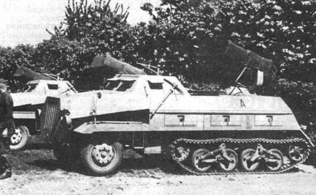 Полугусеничные грузовые автомобили типа Maultier и боевые машины на их базе
