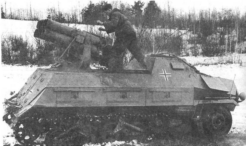 Panzerwerfer 42 на огневой позиции. Восточный фронт, весна 1943 года