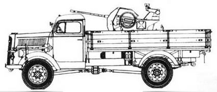 Opel Blitz mit 2 cm