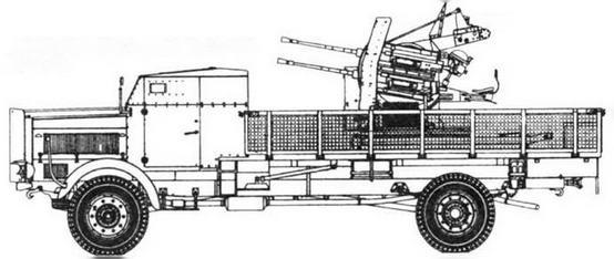 Mercedes-Benz 4500A mit 2 cm Flak 38