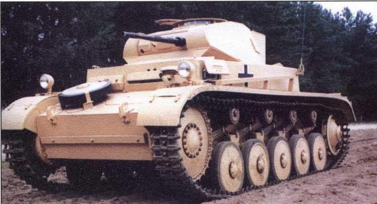 Легкий танк Pz.IIAusf.F. Танковый музей Бунденсвера в Мунстере
