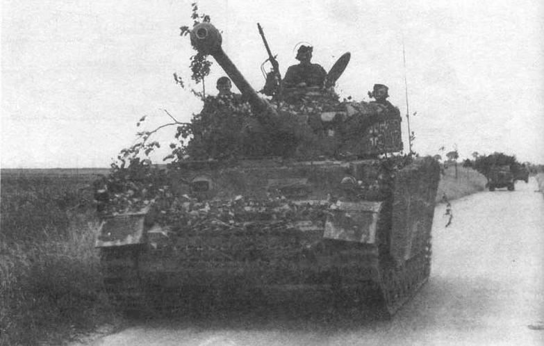 """Средний танк Pz.IV Ausf.H 12-й танковой дивизии СС """"Гитлерюгенд"""" (12.SS- Panzer-Division """"Hitlerjugend"""") на подступах к Кану. Нормандия, нюнь 1944 года"""