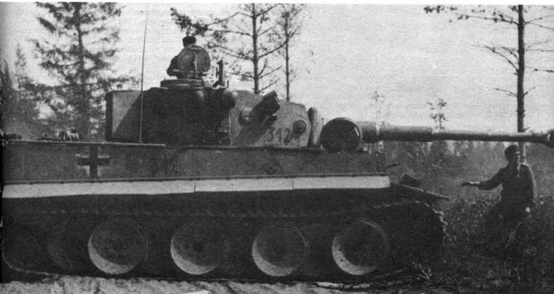 Тяжелый танк Pz.VIE Tiger ранних выпусков. Машина из состава 502-го тяжелого танковою батальона (s.Pz.,Abt.502). Восточный фронт, лето 1943 года