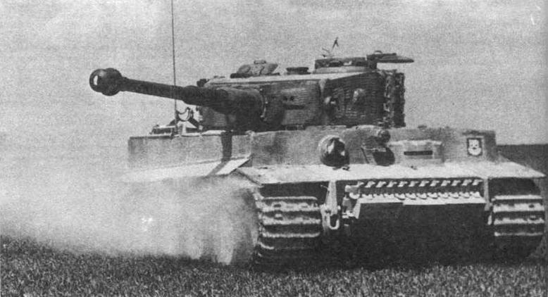 Тяжелый танк Tiger из состава 101-то тяжелого танкового батальона СС (s.SS.Pz.Abt.101). Нормандия, июнь 1944 года