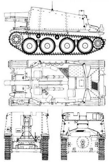 15 cm sIG 33 auf P/..38(t) Bison H