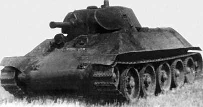 Опытный средний танк А-32 во время полигонных испытаний летом 1939 года.