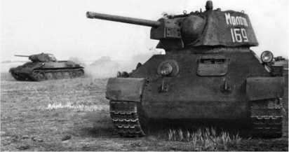Танк Т-34 с улучшенной башней из состава 106-й танковой бригады. Сентябрь 1942 года.