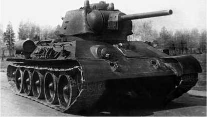 Танк Т-34 выпуска 1943 года с командирской башенкой.