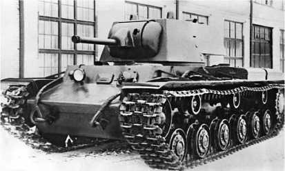 Серийный КВ-1 со сварной башней и пушкой Л-11. 1940 год.
