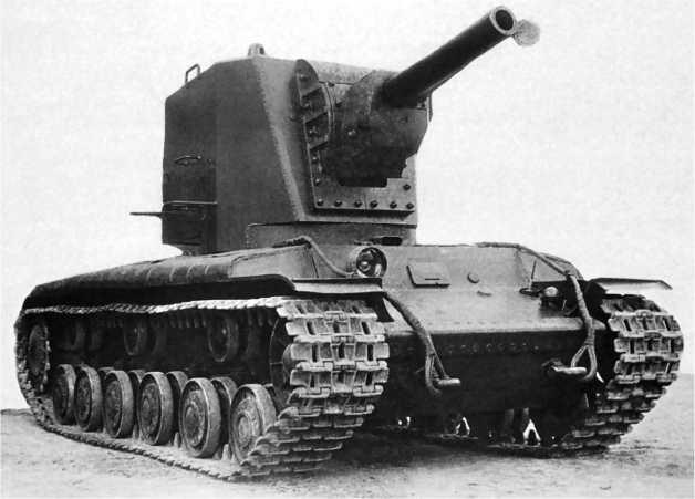Опытный танк КВ с «большой башней» и 152-мм гаубицей. 1940 год.