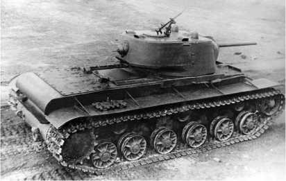 Танк КВ-1 с литой башней и корпусом, выпускавшимся заводом №200. Весна 1942 года.