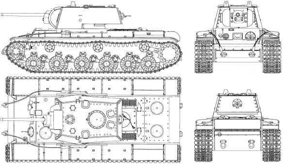 КВ-1 со сварной башней.