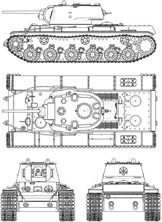КВ-1 с литой башней.
