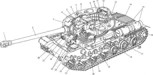 Компоновка тяжелого танка ИС-122: