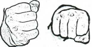 Рис. 4.22. Кулак как ударная часть руки.