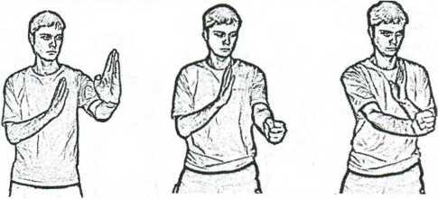 Рис. 4.24. Прямой удар вертикальным кулаком в корпус