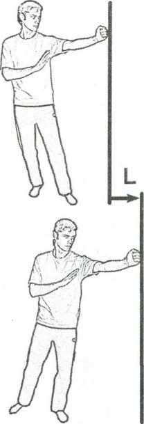 Рис. 3.8.Удлинение удара при переносе веса тела на переднюю ногу