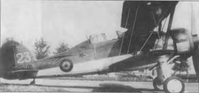 Бельгийский «Гладиатор Mk I» (23) на аэродроме Шаффен-Дист, начало 1940 года. Бельгийские «Гладиаторы» были собраны в составе 1-й эскадрильи 1-й группы 2-го полка. Эмблемой эскадрильи была красная с белой обводкой комета. Белые цифры номера нанесены на киль. Полностью серийный номер «G23» нанесен на нижнюю сторону нижнего крыла. Стойки между крыльями черные. Все 16 боеспособных бельгийских «Гладиаторов» были уничтожены 10–11 мая 1940 года.