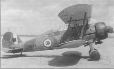 Облезший «Гладиатор Mk II» (1.8025) из S-й египетской эскадрильи. Гелиополис. Египет. 14 марта 1943 года. Хотя это Mk II, самолет оснащен двухлопастным винтом «Уоттс». Кокарда на фюзеляже обведена тонкой жёлтой (FS33538) каймой. Серийный номер черный.