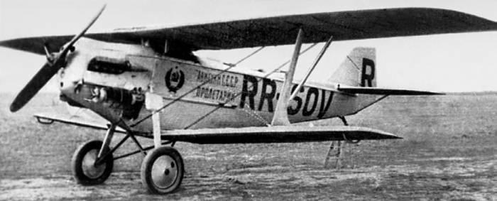 АНТ-3 «Пролетарий» — разведчик Р-3, переоборудованный для рекордного перелета по Европе