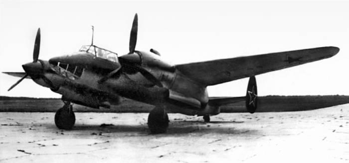 Серийный Ту-2С №16/7 завода №23. 1945г.