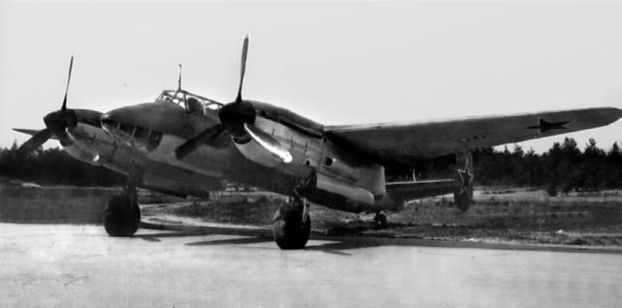 Опытный скоростной пикирующий бомбардировщик СДБ («63») на государственных испытаниях