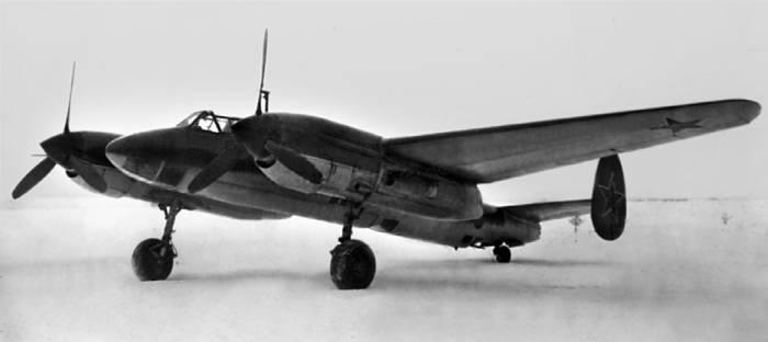 Самолет «68» на повторных испытаниях в НИИ ВВС. 1948г.