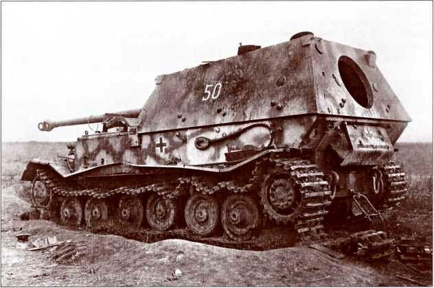 «Фердинанд» №501 из состава штаба 5-й роты 654-го батальона.