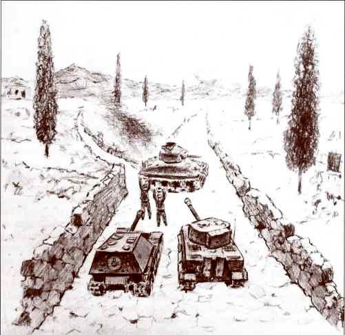 Боестолкновение 26 мая 1944г. по описанию Герберта Штролля. Реконструкция Д. Базуева.