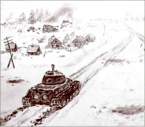 Бой танка ИC-2 гвардии лейтенанта Слюняева с «Элефантом» 22 июля 1944г. Реконструкция Д. Базуева.